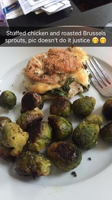 Stuffed Chicken and Brussel Sprouts